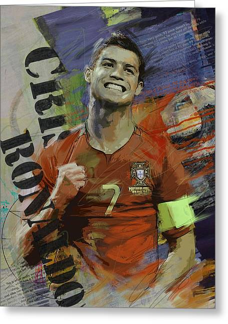 Cristiano Ronaldo - B Greeting Card by Corporate Art Task Force