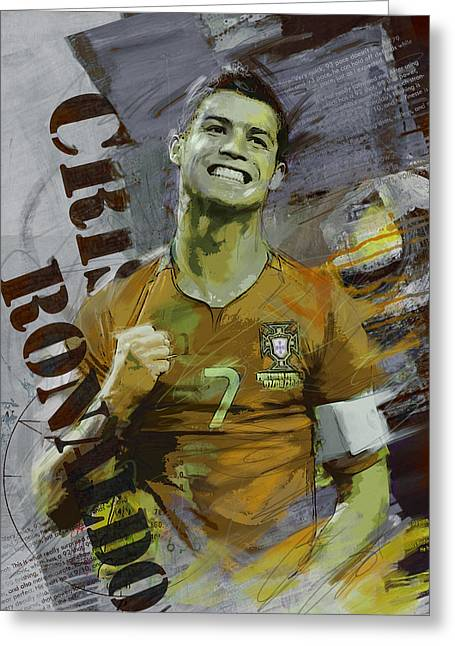 Cristiano Ronaldo Greeting Card by Corporate Art Task Force