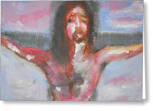 Cristo Greeting Card by Massimiliano Marino