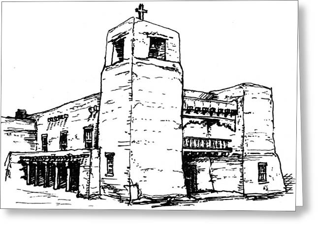 Cristo Rey Church Greeting Card by Del Gaizo