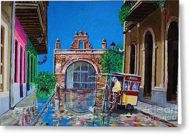 Capilla De Cristo - Old San Juan Greeting Card