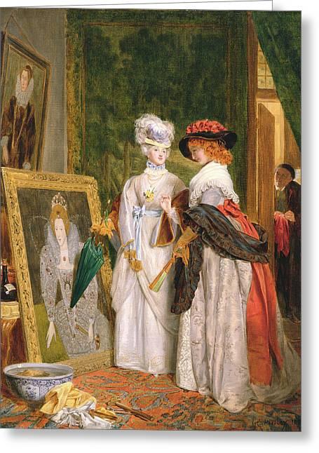 Critics On Costume, Fashions Change Greeting Card by John Callcott Horsley