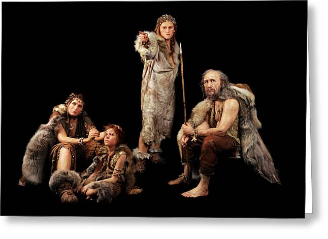 Cro-magnon People Greeting Card by S. Entressangle/e. Daynes