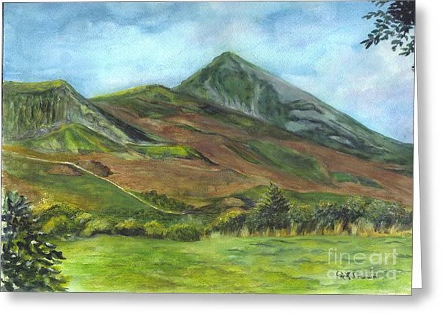 Croagh Saint Patricks Mountain In Ireland  Greeting Card