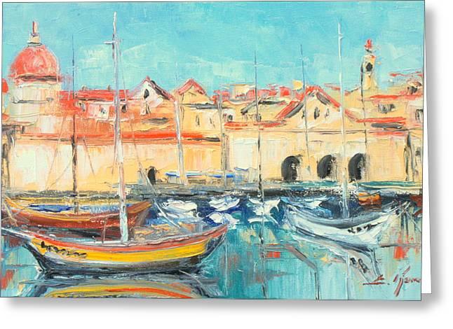 Croatia - Dubrovnik Harbour Greeting Card