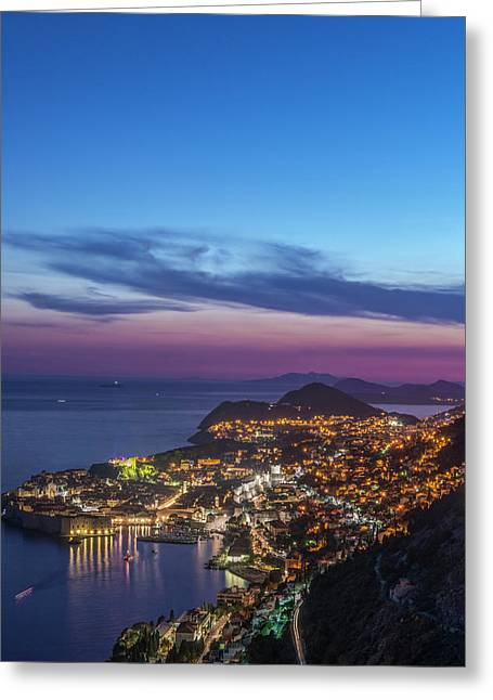 Croatia, Dubrovnik, Looking Greeting Card by Rob Tilley