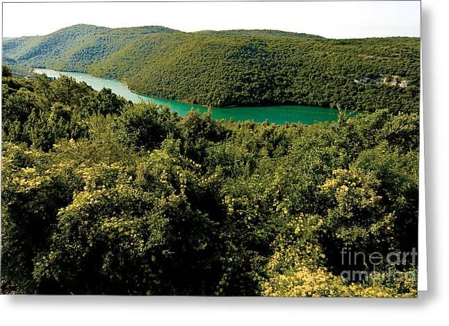 Croatia River Greeting Card by Boon Mee