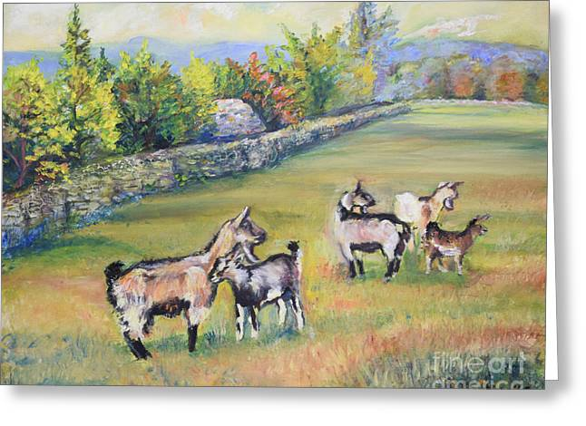 Croatian Goats Greeting Card