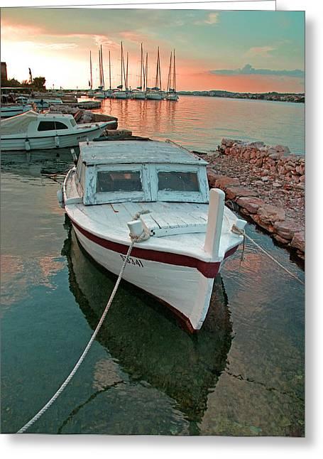 Croatian Marina Greeting Card
