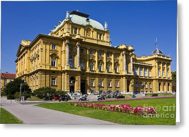 Croatian National Theatre In Zagreb Greeting Card