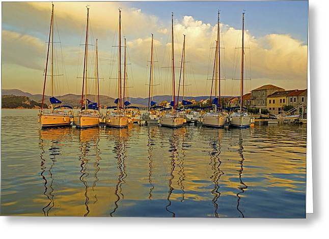 Croatian Sailboats Greeting Card