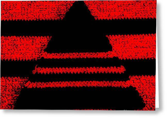Crochet Pyramid Digitally Manipulated Greeting Card by Kerstin Ivarsson