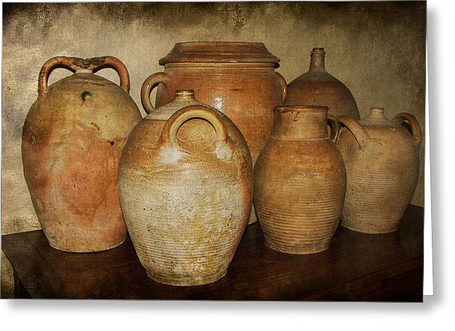 Crocks And Jugs Greeting Card by Nikolyn McDonald