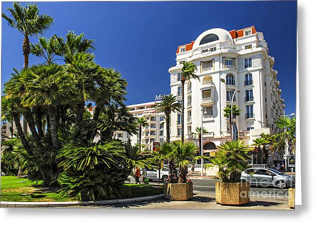 Croisette Promenade In Cannes Greeting Card