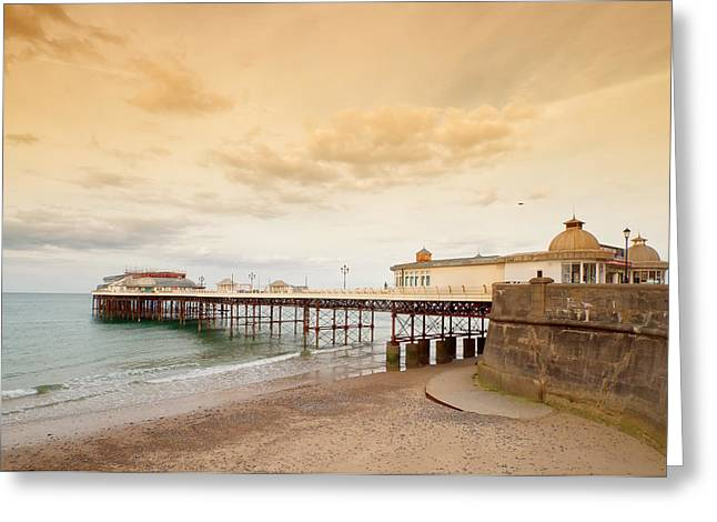 Cromer Pier Greeting Card by Shirley Mitchell