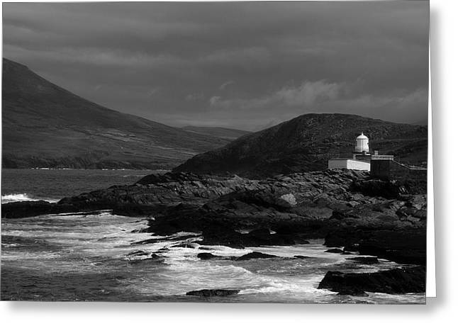 Cromwell Point Lighthouse Greeting Card by Peter Skelton