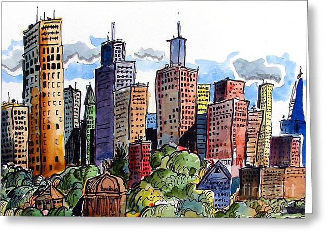Crooked City Greeting Card