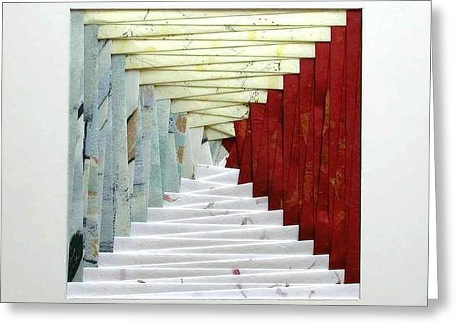 Crooked Staircase Greeting Card by Ron Davidson