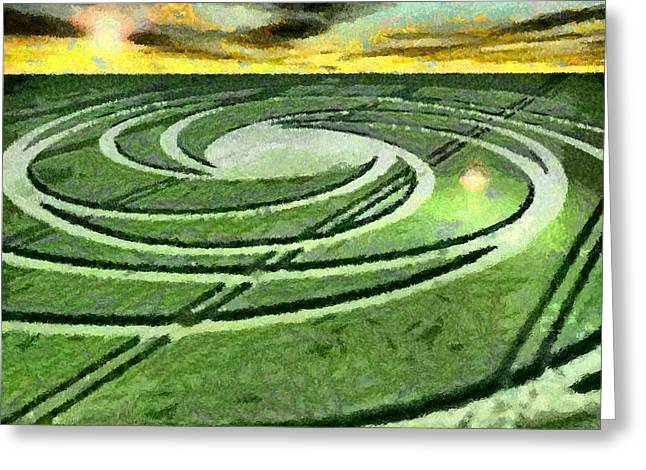 Crop Circles In Field Greeting Card