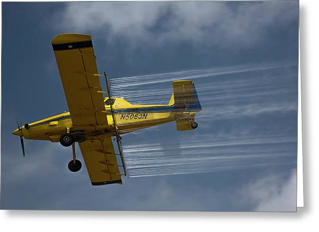 Crop Duster Spraying Pesticides Greeting Card