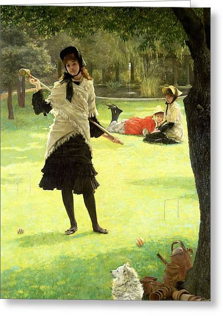 Croquet Greeting Card by James Jacques Joseph Tissot