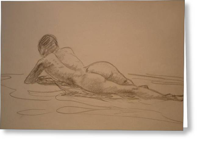 Croquis Nude Greeting Card by Genio GgXpress