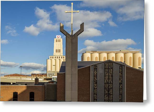 Cross And Oats  Greeting Card by Tim Fitzwater