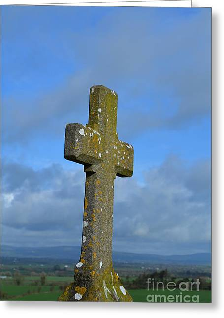 Cross At Cashel Greeting Card