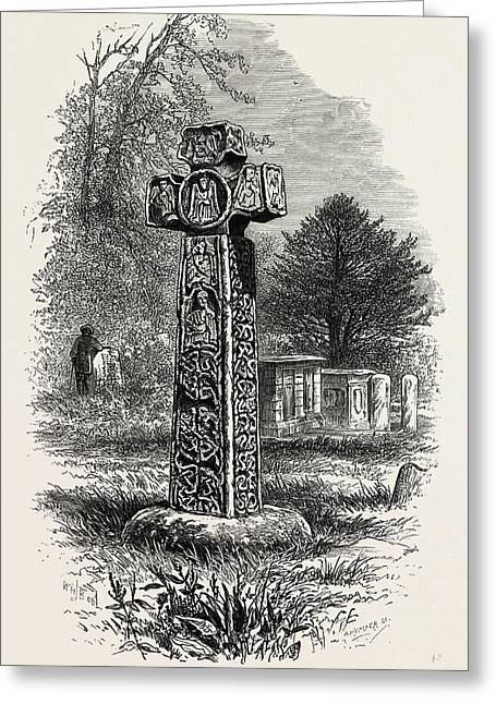 Cross At Eyam, The Dales Of Derbyshire, Uk Greeting Card by English School