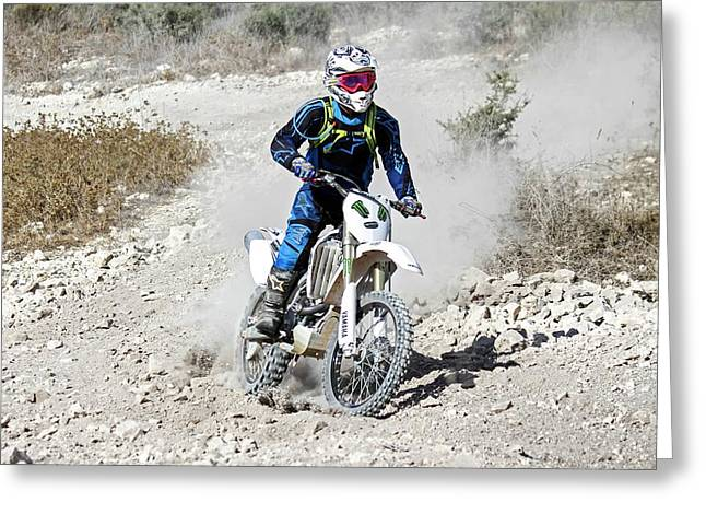 Cross Country Motorbike Race Greeting Card by Photostock-israel