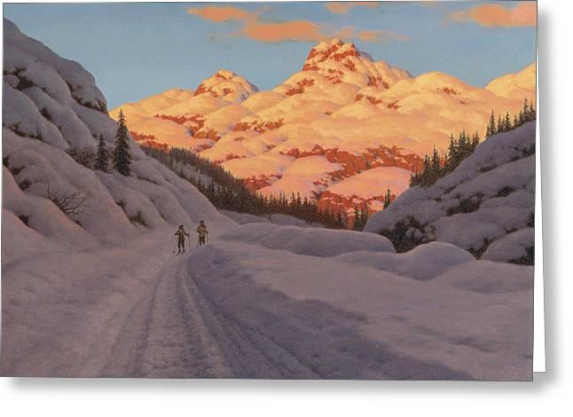 Cross-country Ski-ing. Haute Savoie Greeting Card