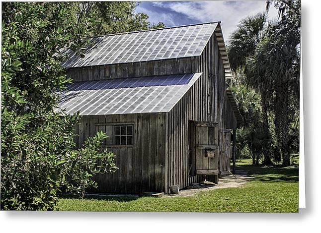 Cross Creek Barn Greeting Card by Lynn Palmer