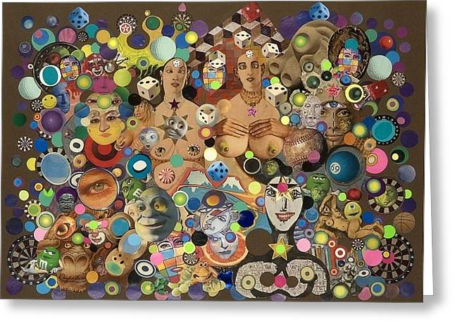 Cross Eyed Ladies Greeting Card by Douglas Fromm