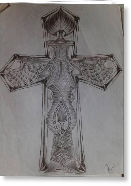 Cross Greeting Card by Filiberto Garcia