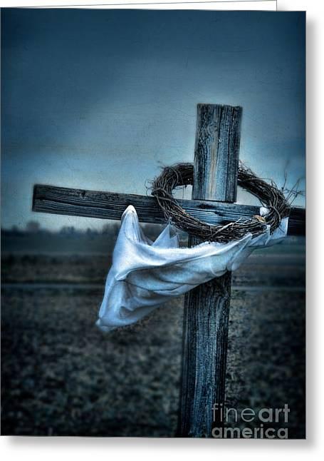 Cross In A Field Greeting Card