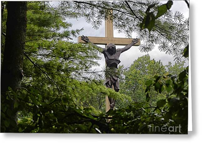 Cross In The Woods II Greeting Card by JRP Photography