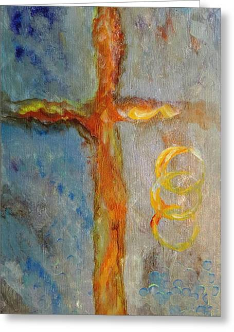 Cross Of Endless Love Greeting Card
