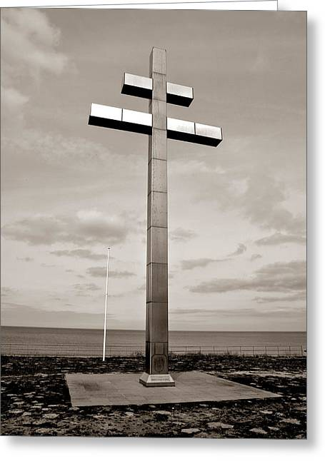 Cross Of Lorraine Greeting Card by Olivier Le Queinec