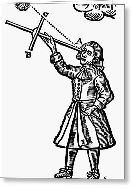 Cross-staff, 1669 Greeting Card by Granger