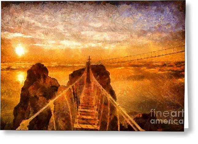Cross That Bridge Greeting Card
