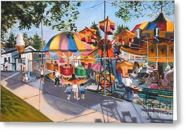 Crossbay Amusement Park Greeting Card