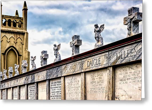 Crosses And Angels Greeting Card by Kathleen K Parker