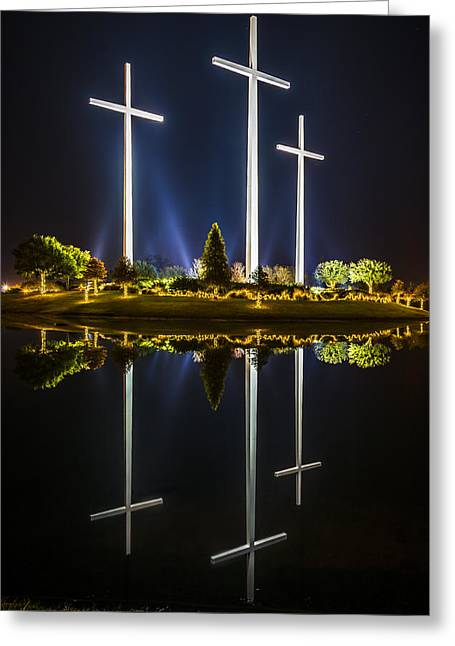 Crosses In Reflection Greeting Card