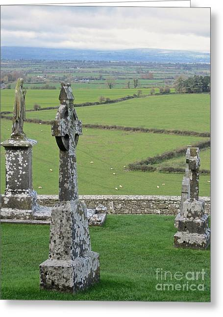 Crosses Of Cashel Greeting Card by Suzanne Oesterling