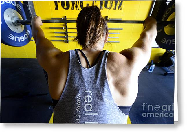 Crossfit 3 Greeting Card by Bob Christopher