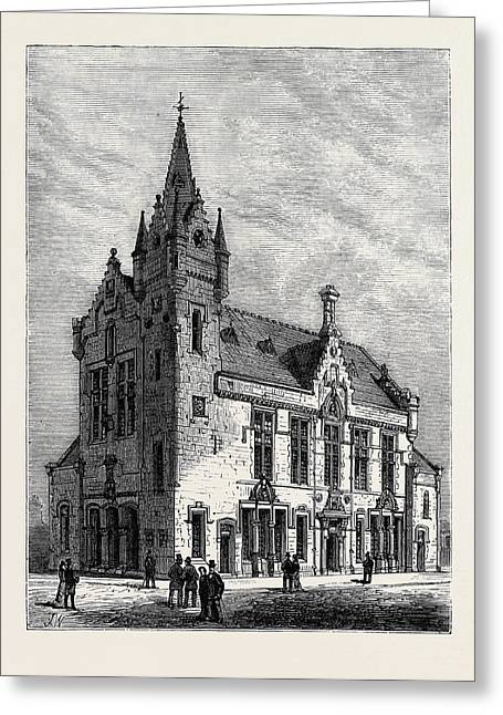 Crosshill And Govanhill Burgh Hall Near Glasgow Scotland Greeting Card