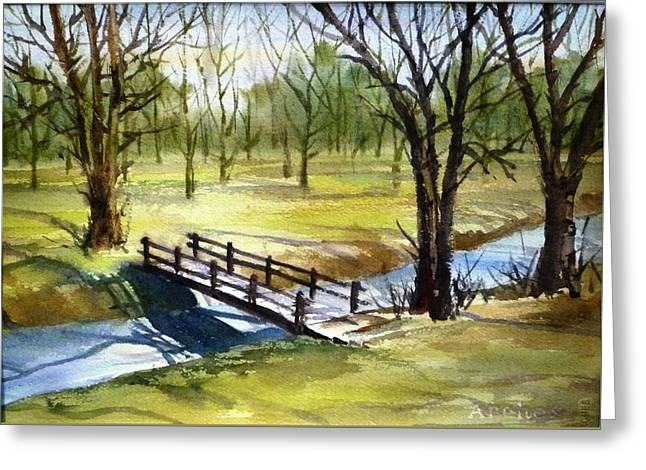 Crossing Greeting Card by Betty M M   Wong