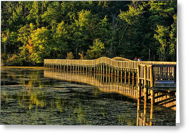 Crossing Into Autumn  Greeting Card