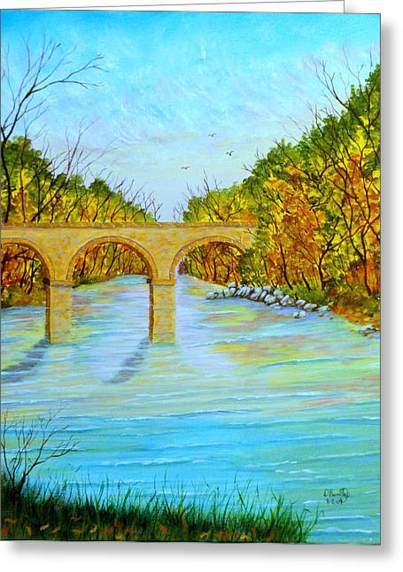 Crossing Over Greeting Card by David Bentley