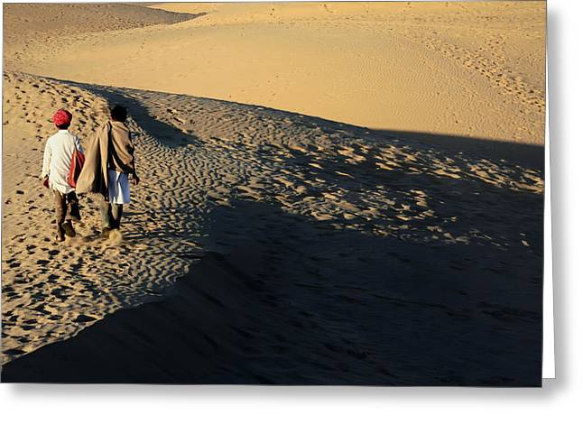 Crossing The Great Sands Greeting Card